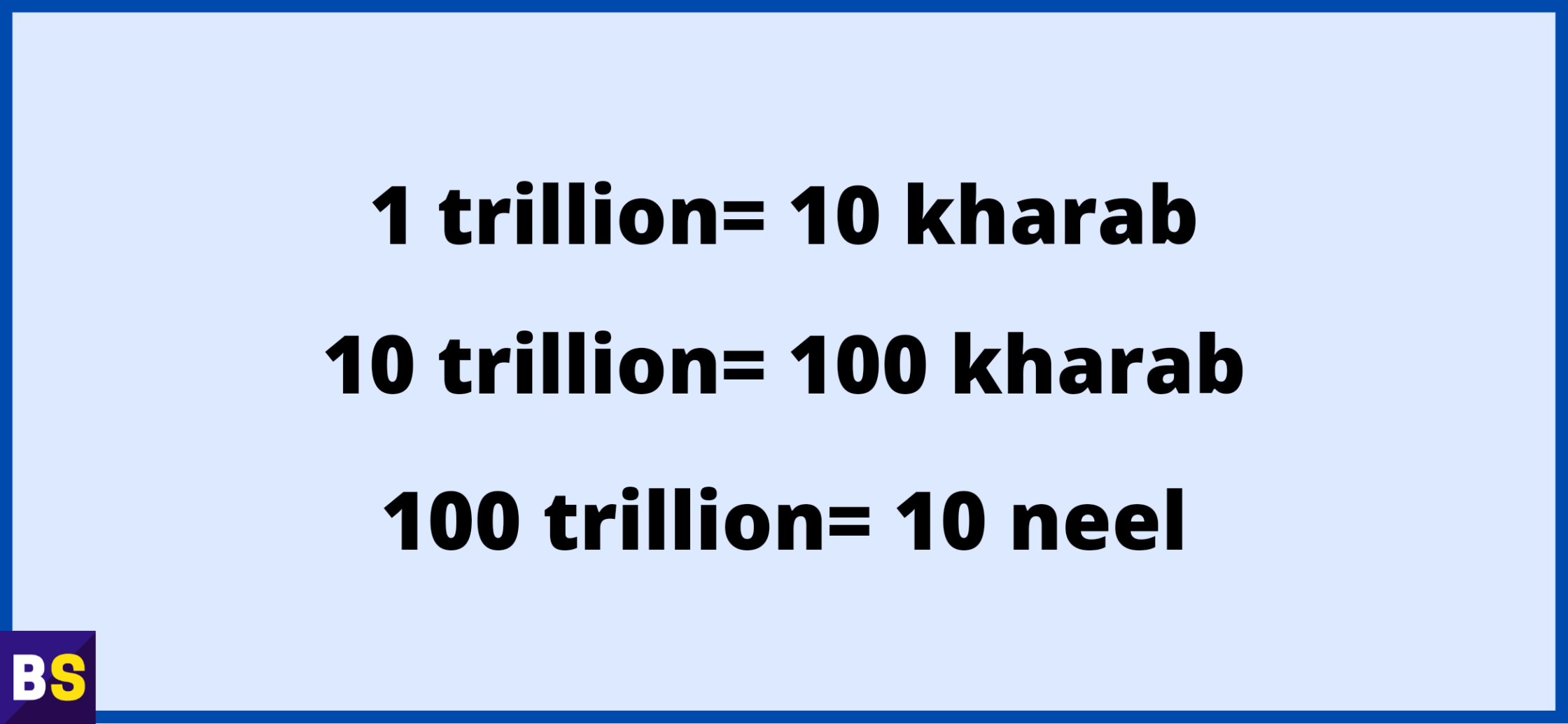 Trillion meaning in hindi